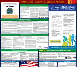 All-in-one louisiana labor law poster