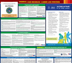 All-in-one michigan labor law poster